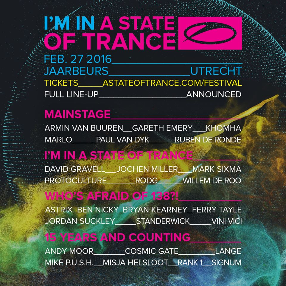 A STATE OF TRANCE FEB 27 2016