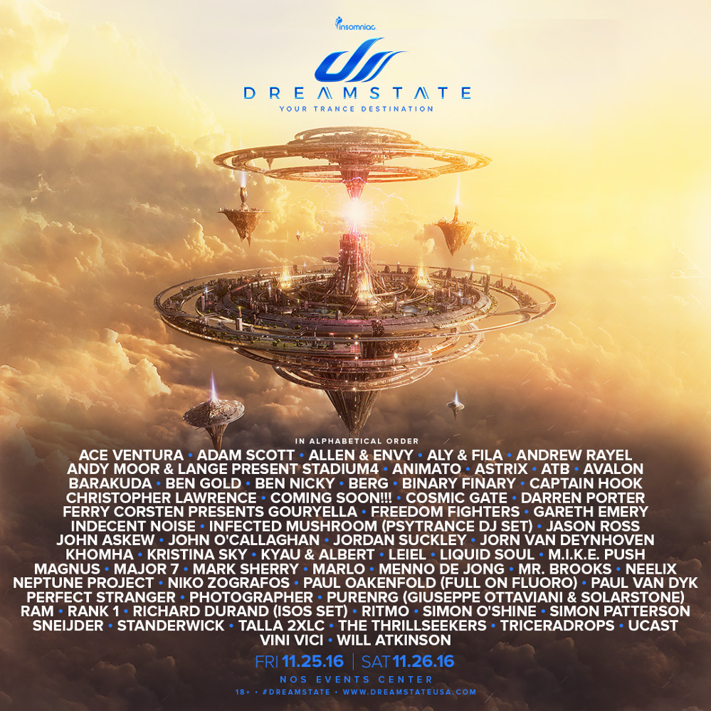 DREAMSTATE 2016  YOUR TRANCE DESTINATION