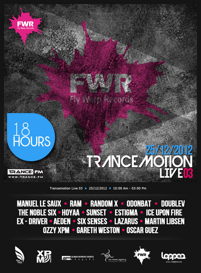 Trance.Fm Radio &  Fly Warp Records Presents  TranceMotion Live