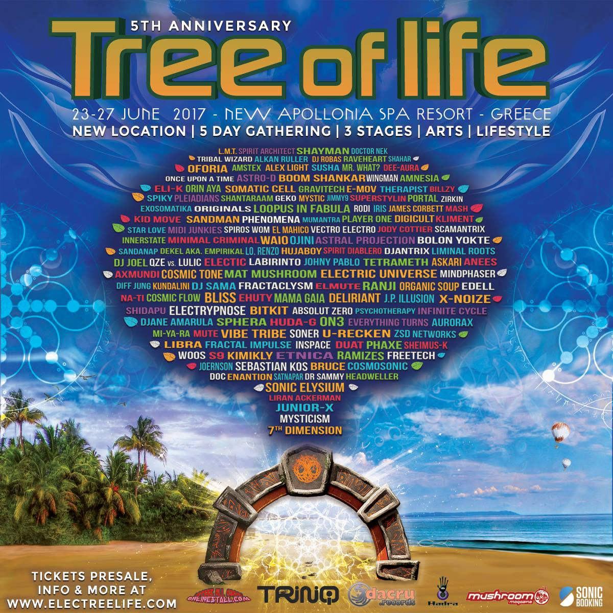 Tree Of Life Festival 23 -27 June Asprovalta, Greece