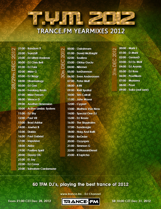 TRANCE.FM YEARMIXES 2012
